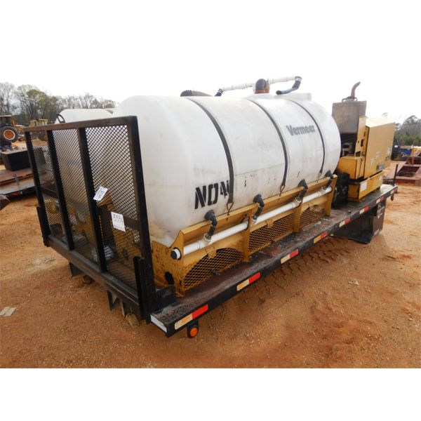 16' truck flat bed w/Vermeer DT750 pump system, water tanks for boring machine