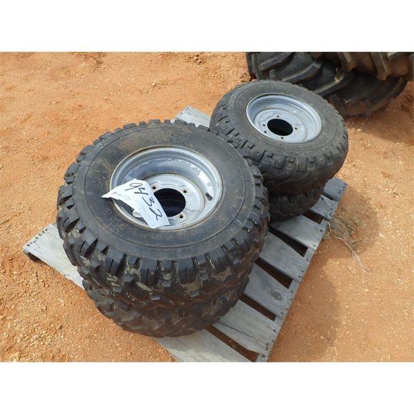 1 SET OF 4 ATV tires, (2) 24x10x11, (2) 24x8x11