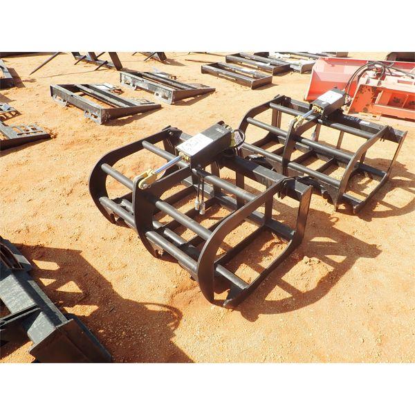 """47"""" root bucket w/grapple, fits skid steer loader"""