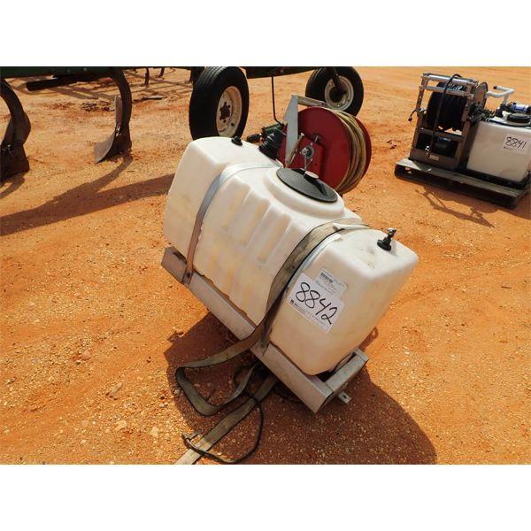 50 gallon water tank & hose reel