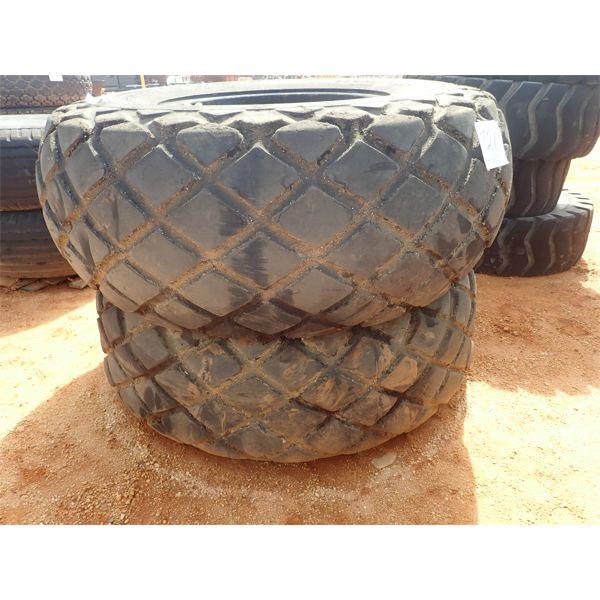 (2) Goodyear 24.5 x32 tires w/rims