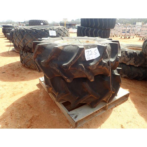 (2) Firestone 18.4-26 tires w/rims