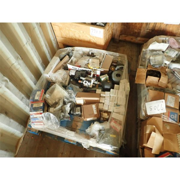 (1) pallet of misc bearing, elect parts