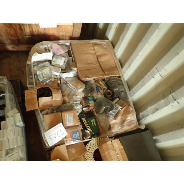 (1) pallet of misc speaker, bearing, elect parts
