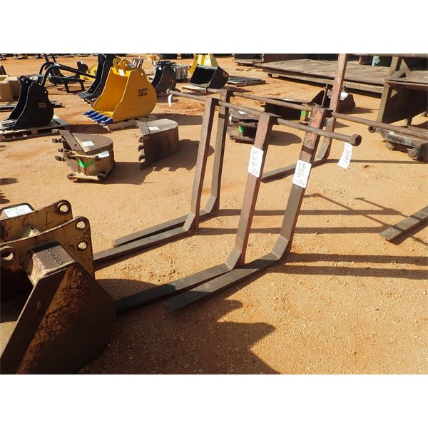 Fork assembly, fits loader backhoe