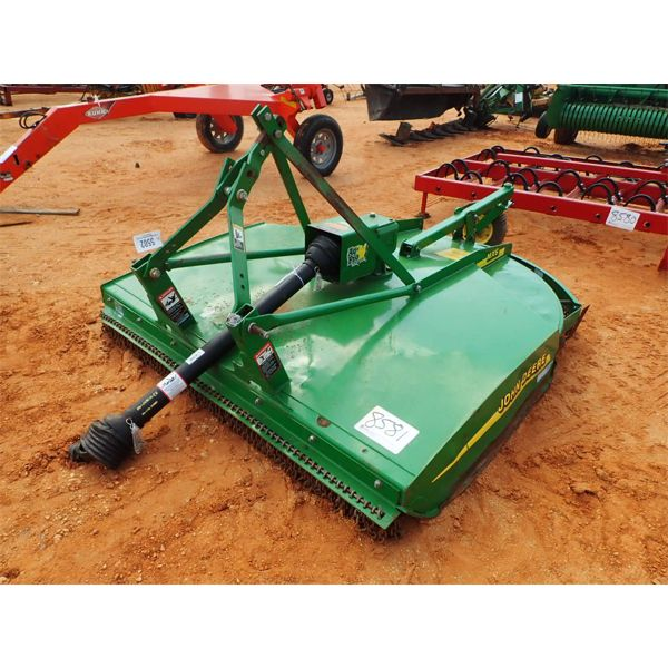 JOHN DEERE MX6 6' brush cutter bush hog, 3 pth, PTO driven, S/N: 1P00MX6CPHP068521