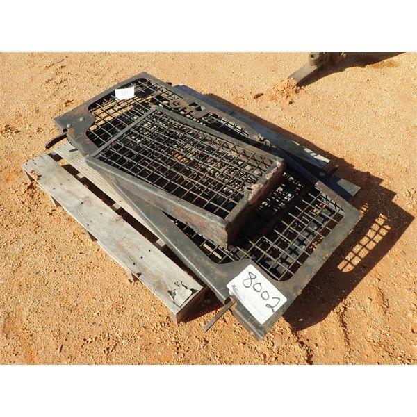 brush screens for log loader