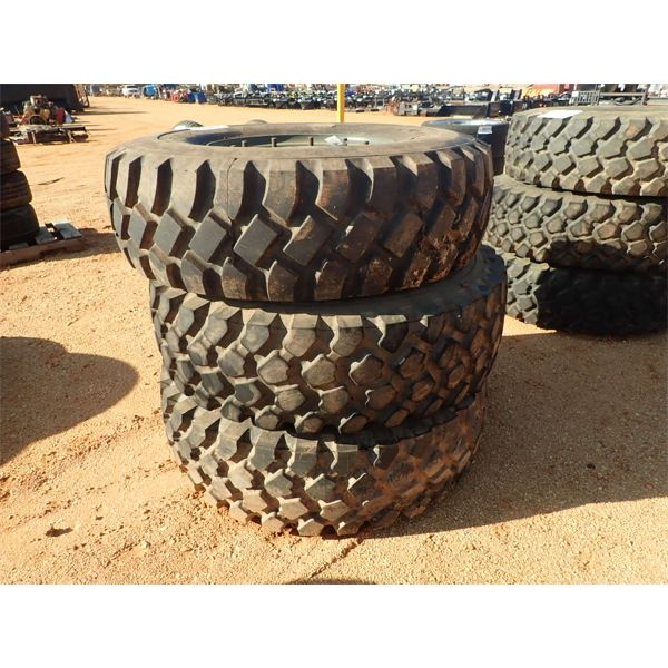 (3) Goodyear 14.00R20 tires w/rim