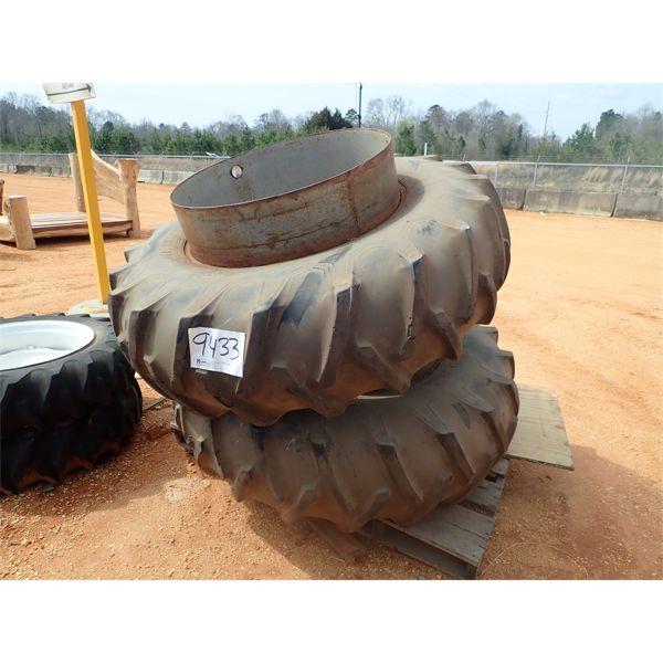 (2) 18.4-34 tires & rims