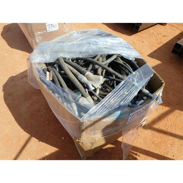 (1) pallet misc hyd hoses