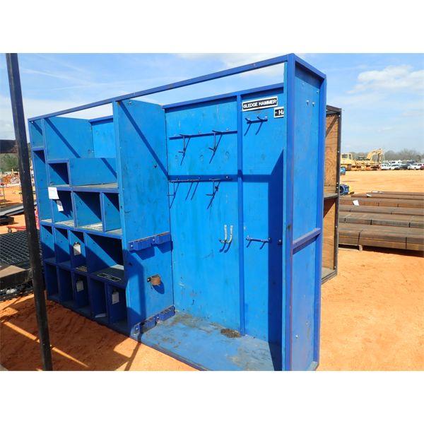 Metal frame storage bin