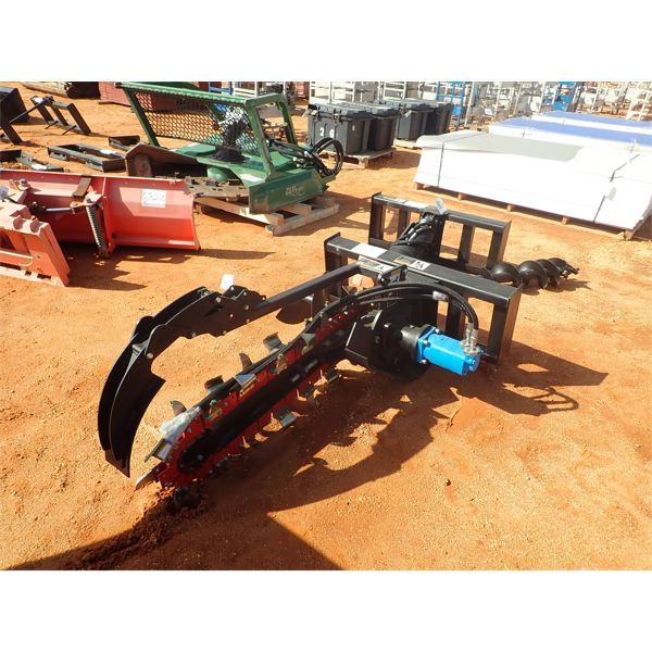 hyd trencher, fits skid steer loader