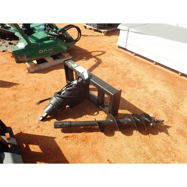 """hyd auger w/ 10"""" bit,  fits skid steer loader"""