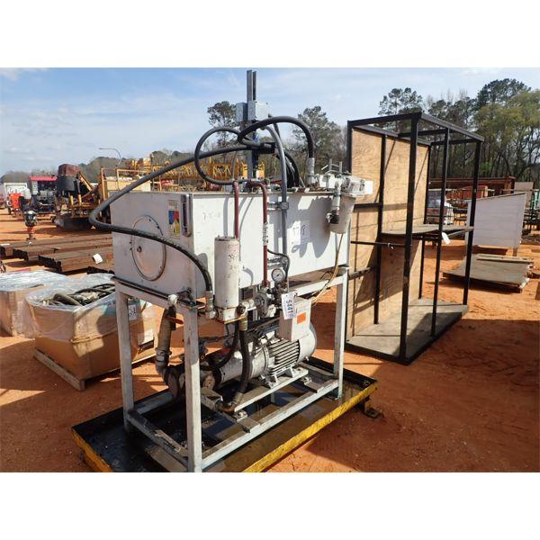Hyd tank w/pump, elect motor, high pressure