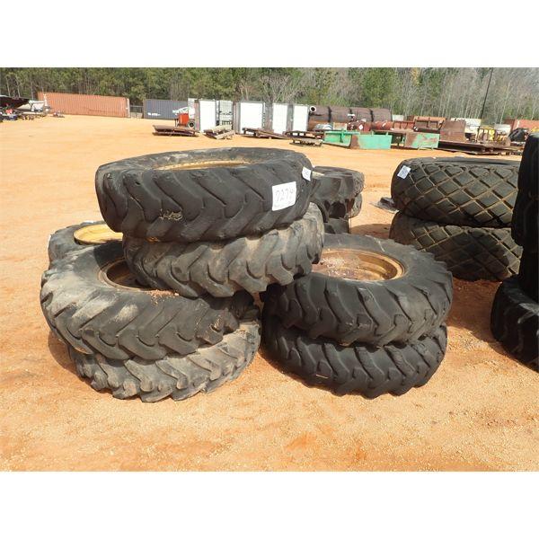 (6) 14.00-24 tires & rims