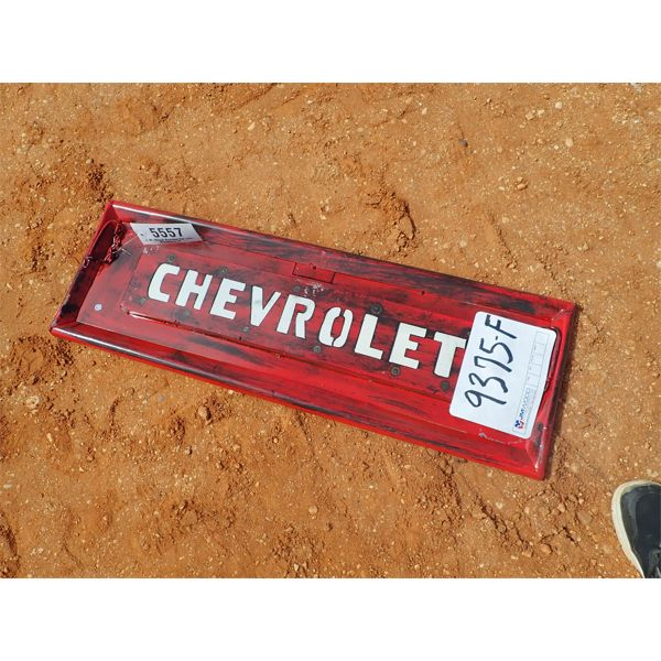 metal Chevrolet tailgate sign