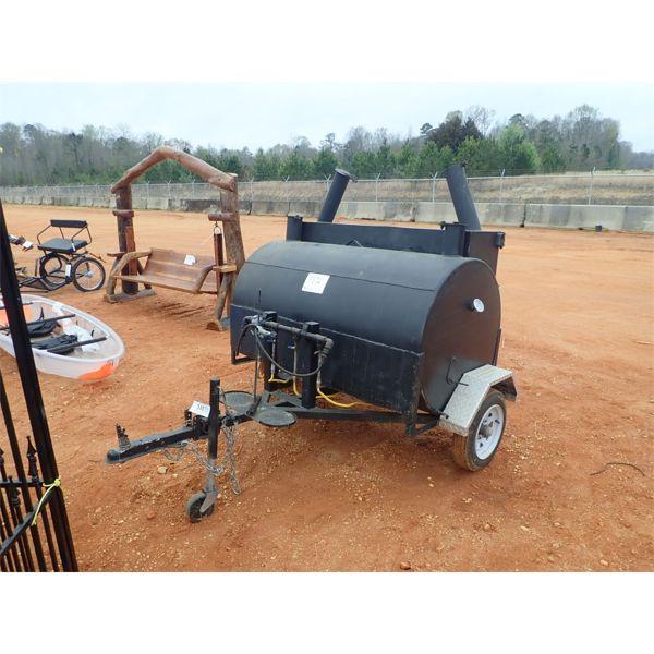 Bar B Que grill, mtd on S/A trailer