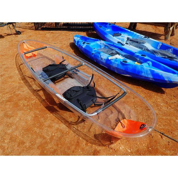 2 man kayak w/ paddle