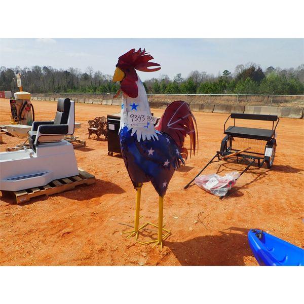 6' metal rooster