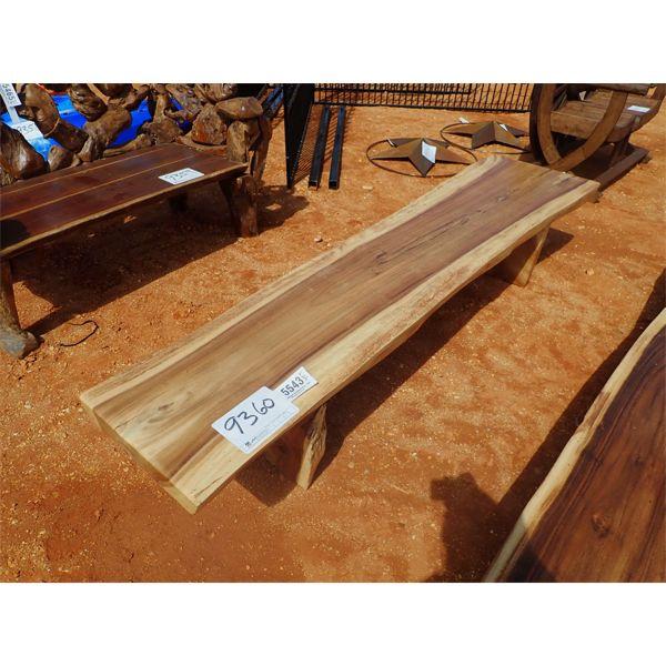 8' Teak wood bench