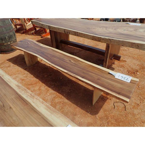 8' Teak slab bench