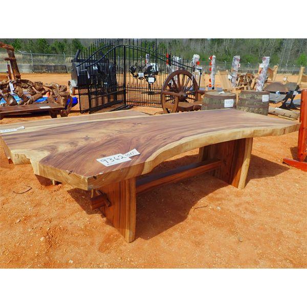 8' Teak slab table