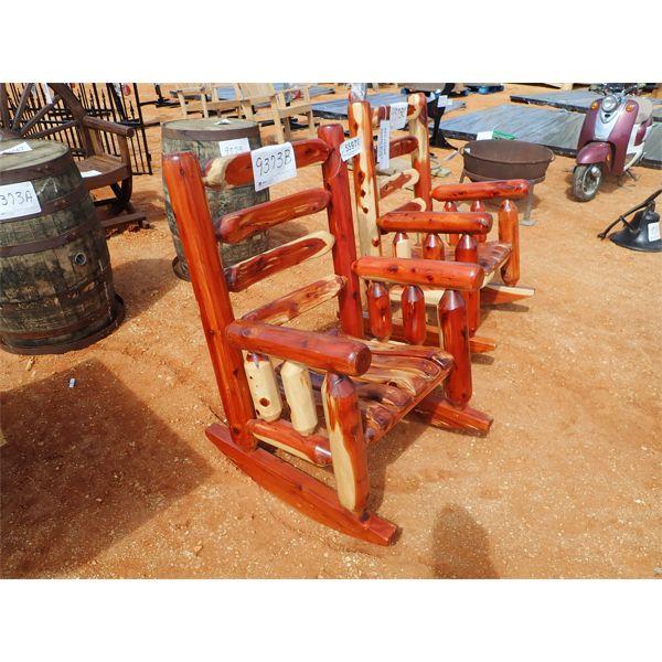 Red cedar rocking chair