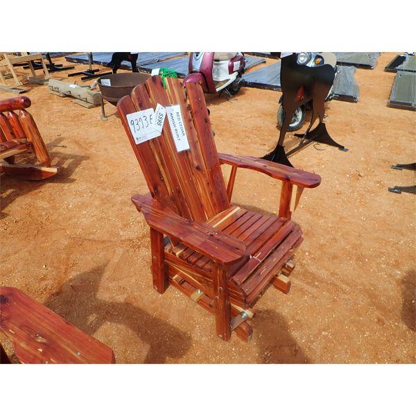 Red cedar glider chair