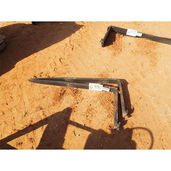 4' fork blades, fits forklift