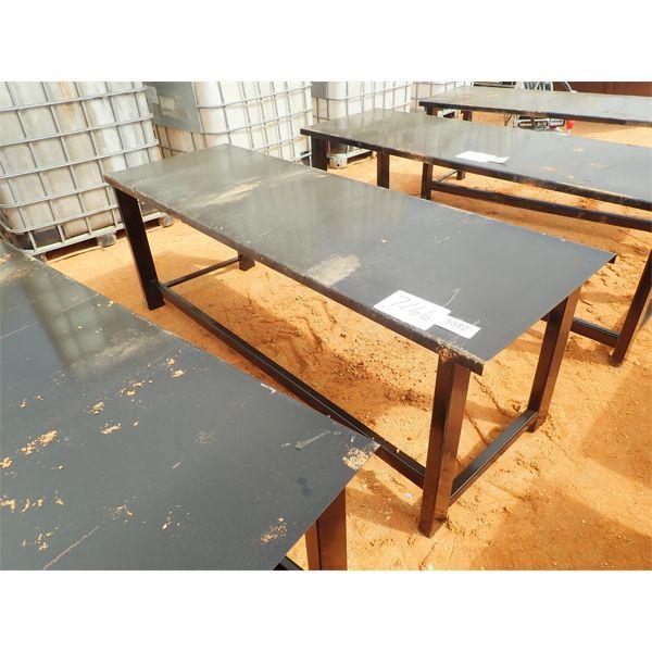 """90"""" metal table"""