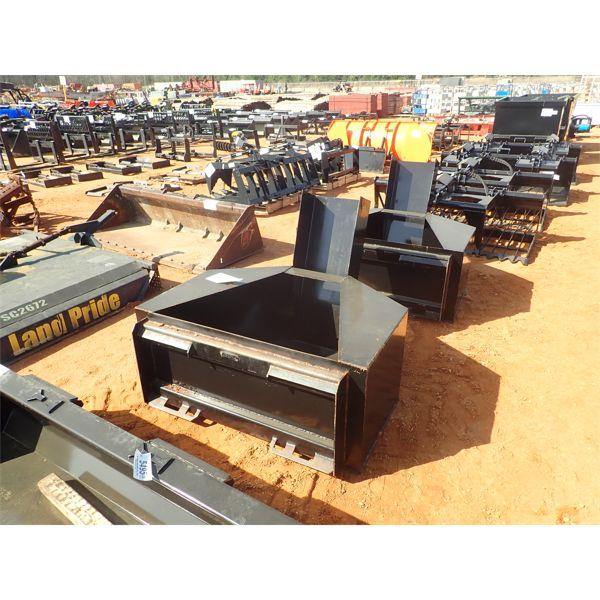 Concrete bucket, fits skid steer loader