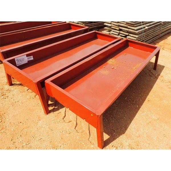 "(2) 90"" metal feed bunk"