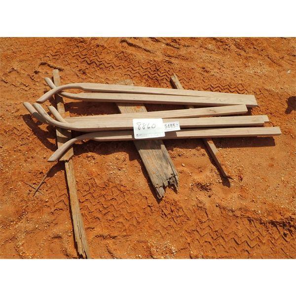 (6) wood plow handle
