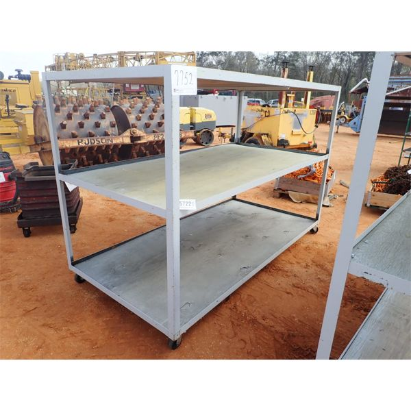 4' x 8' roll around 3 shelf storage cart