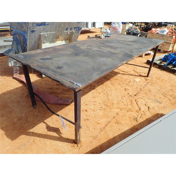 "44"" x 102"" metal table"