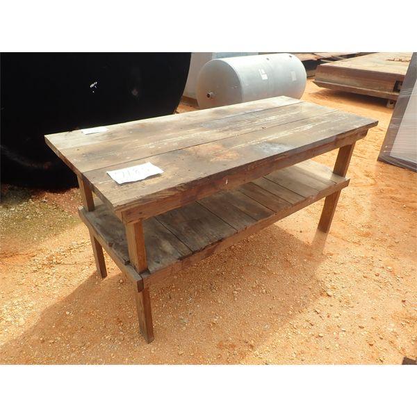 "31"" x 6' wood table"