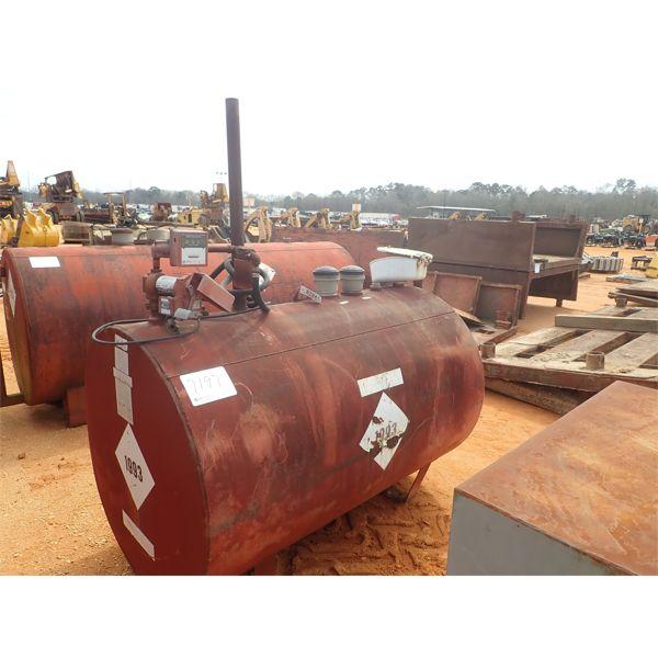 Fuel storage tank w/pump, hose and nozzle