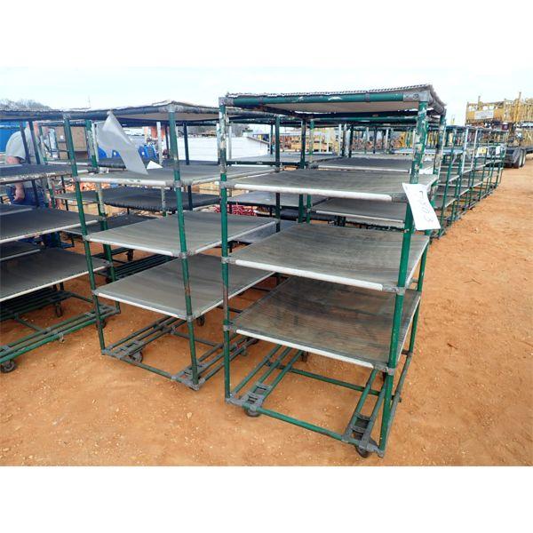 5 shelf cart on wheels