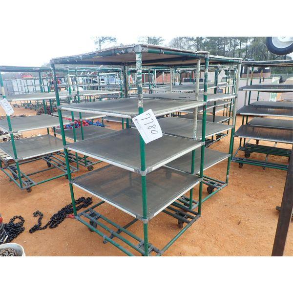 (2) 5 shelf cart on wheels