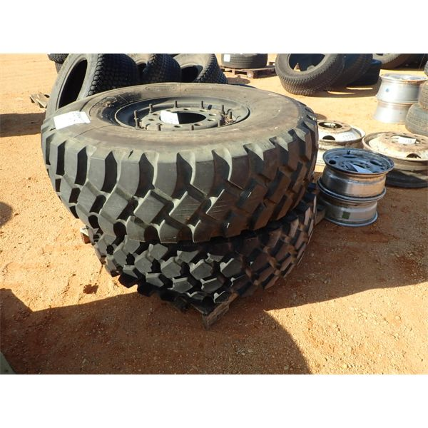 (2) military type 14.00R20 tires & rims