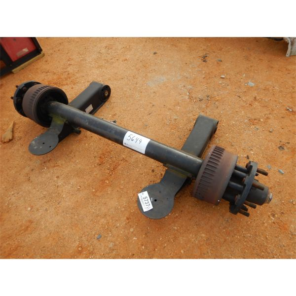 military type trailer axle, set up for air lift