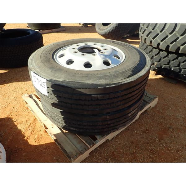 (2) Firestone 11R24.5 tires w/rims