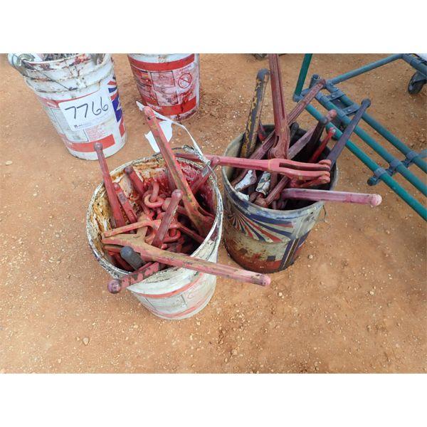 (2) buckets chain binders