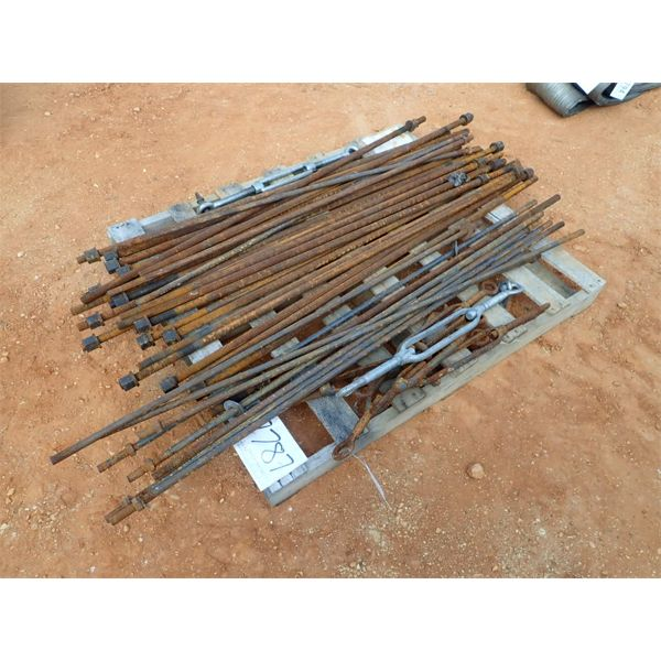 (1) pallet threaded rods