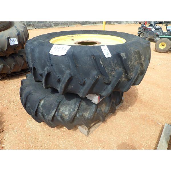 (2) 18.4-38 tires & rims