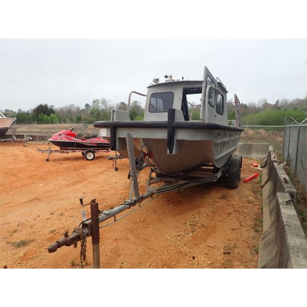 20' center console boat w/trailer, inboard Mercury motor