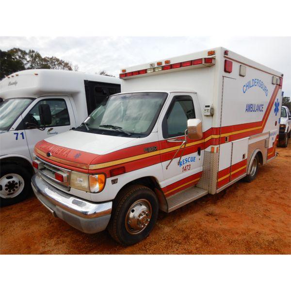 2001 FORD E350 Emergency Vehicle