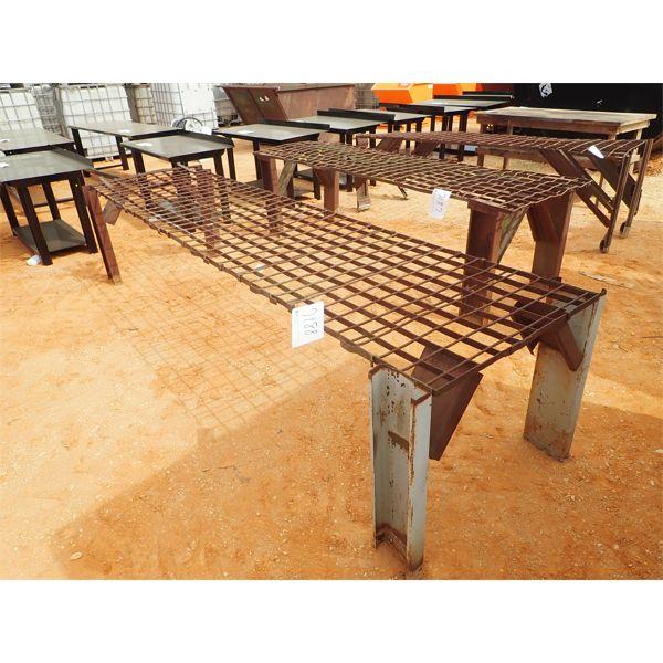 3' x 12' metal eating table