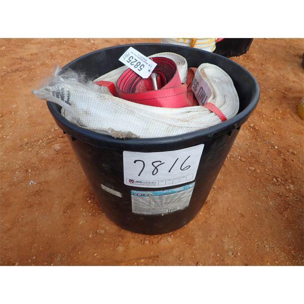 (1) bucket hold down strap