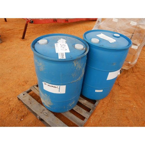 (2) 55 gal drum degreaser
